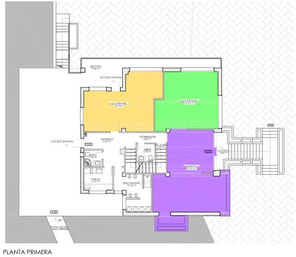 Colegio Andolina. Planos. Planta Primera